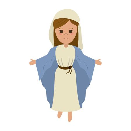 聖母マリア聖なる家族アイコン画像ベクトル イラスト デザイン  イラスト・ベクター素材