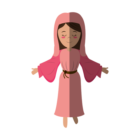 virgin mary holy family icon image vector illustration design