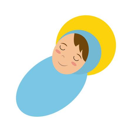 baby jesus sleeping icon image vector illustration design
