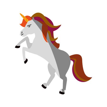 unicorn cartoon icon image vector illustration design