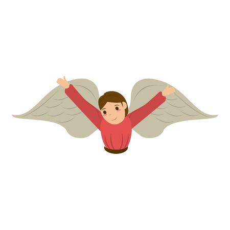 angel cute cartoon icon image vector illustration design Illustration