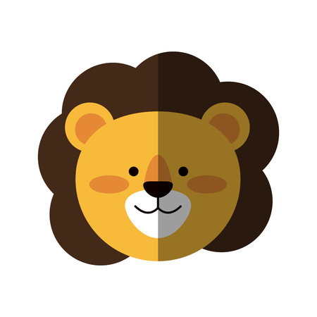 lion or stuffed cute animal icon image vector illustration design
