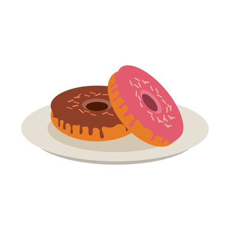 pin board: donut with sprinkles pastry icon image vector illustration design