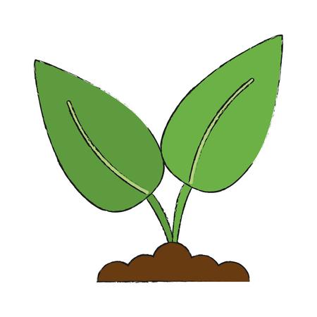 potting soil: plant in soil icon image vector illustration design Illustration
