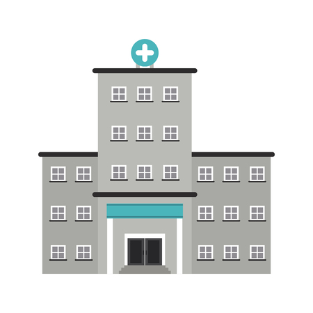 heart disease: hospital building icon image vector illustration design