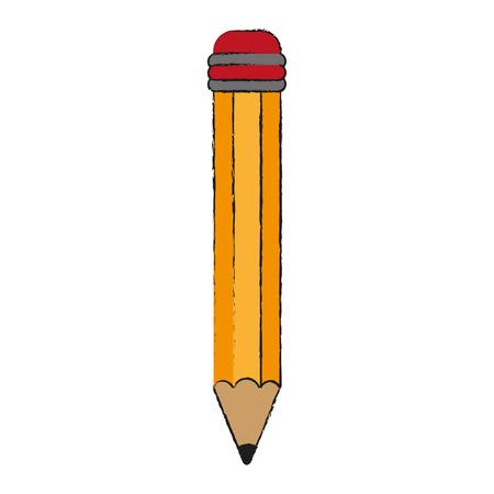 secretarial: pencil with eraser icon image vector illustration design