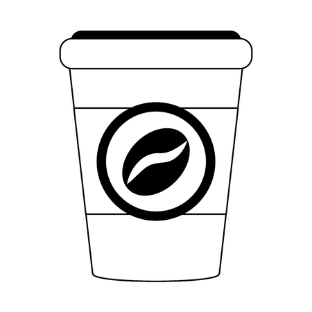 roasting: coffee in disposable cup icon image vector illustration design