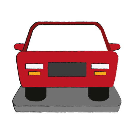 frontview: car frontview  icon image vector illustration design Illustration