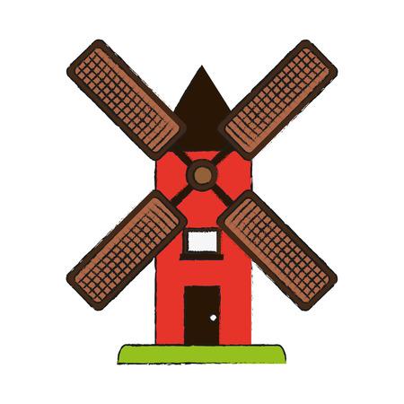 spinning: wind mill icon image vector illustration design Illustration