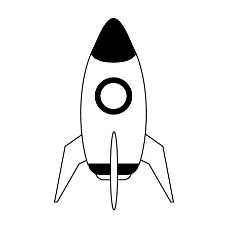 space rocket icon image vector illustration design