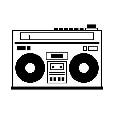 equipo de sonido imagen icono de ilustración vectorial de diseño