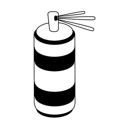 aluminum: aerosol can icon image vector illustration design  black and white Illustration
