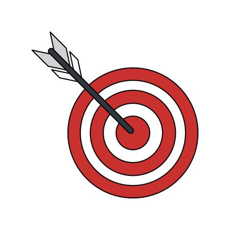 dart board: bullseye or dart board icon image vector illustration design