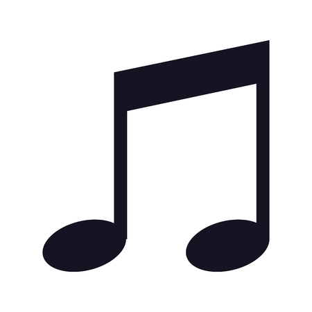 music note accord song icon vector illustration