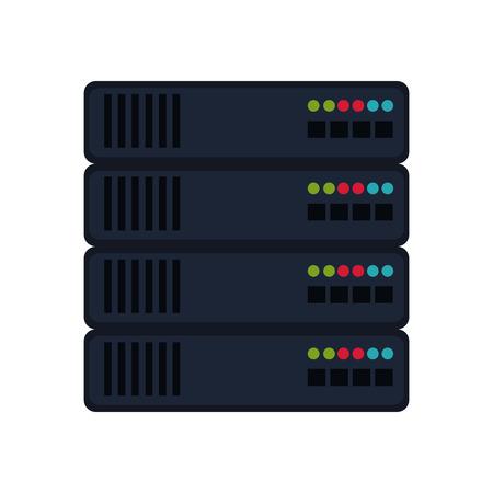 database center server system storage technology vector illustration Illustration