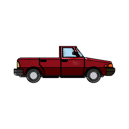 car sport convertible vehicle transport vector illustration