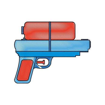 toy water gun plastic play funny icon vector illustration Illustration