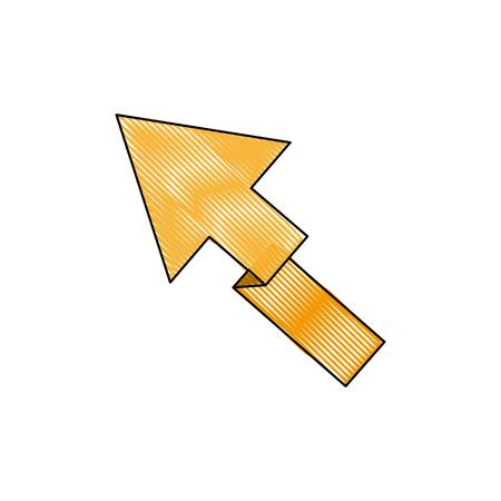 yellow arrow direction location up vector illustration Illustration
