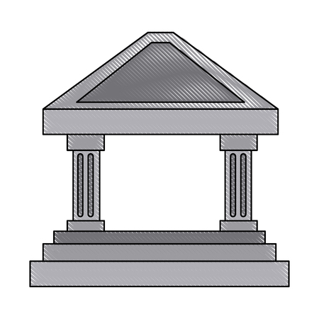 single word: bank building concept finance investment vector illustration