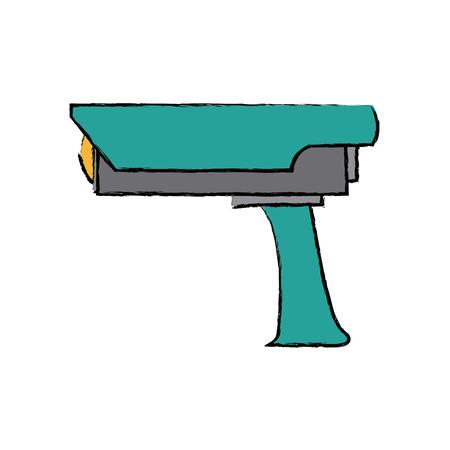 Surveillance camera security device protection icon vector illustration Illustration