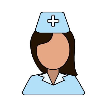 Nurse avatar over white background vector illustration