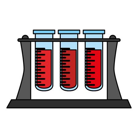 白い背景のベクトル図に管の血液検査