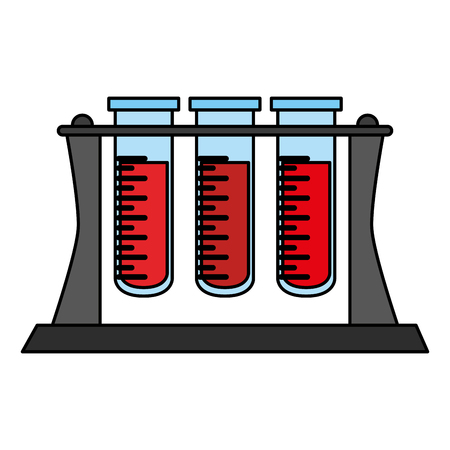 blood testing tubes over white background vector illustration Illustration