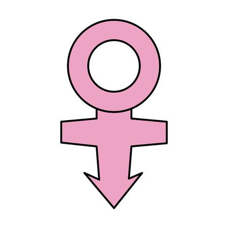 白い背景のベクトル図に女性のシンボル  イラスト・ベクター素材