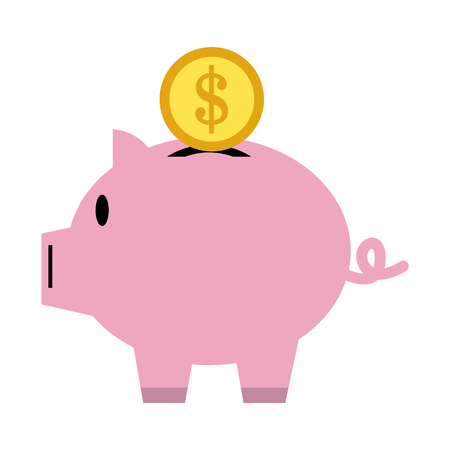 poverty: piggy bank icon image vector illustration design