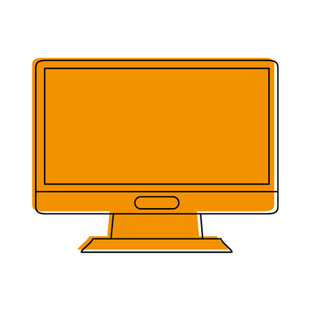 A computer monitor icon image vector illustration design.
