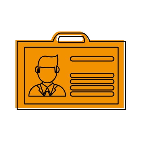 work id card icon image vector illustration design  one color yellow Illustration