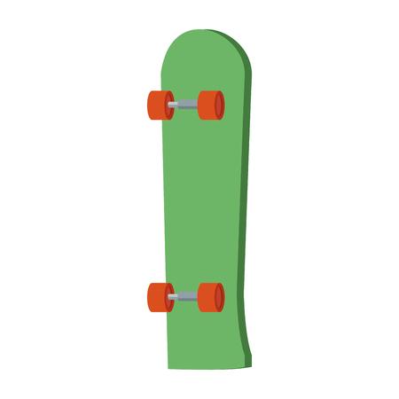 tabla de skate extrem equipo de deporte rueda de madera ilustración vectorial