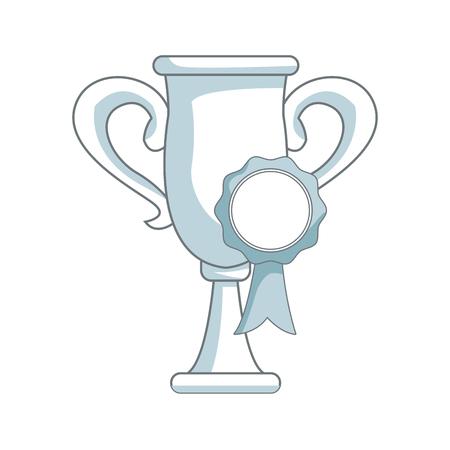 triumphant: Trophy rosette award, success honor icon vector illustration