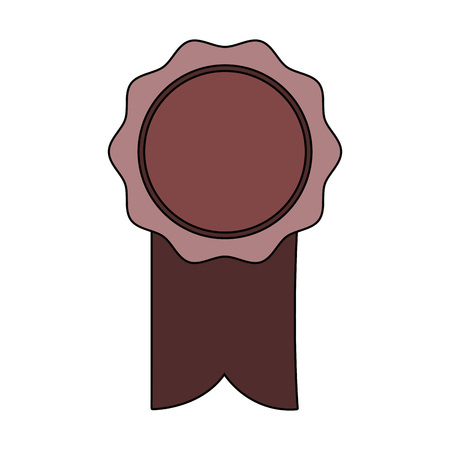 rosette ribbon award winner symbol vector illustration