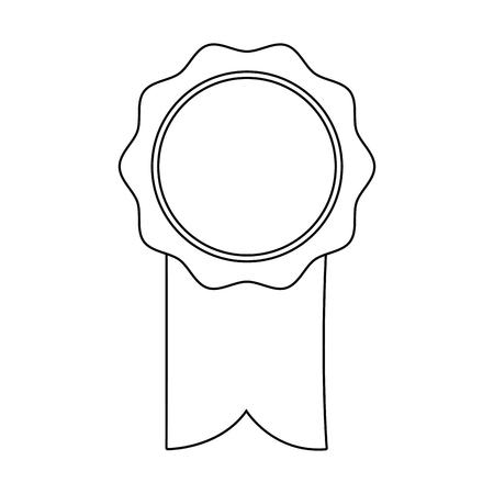 quality guarantee: rosette ribbon award winner symbol vector illustration