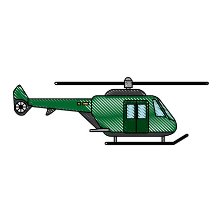 helicopter propelled vehicle rotor transport style vector illustration Illustration