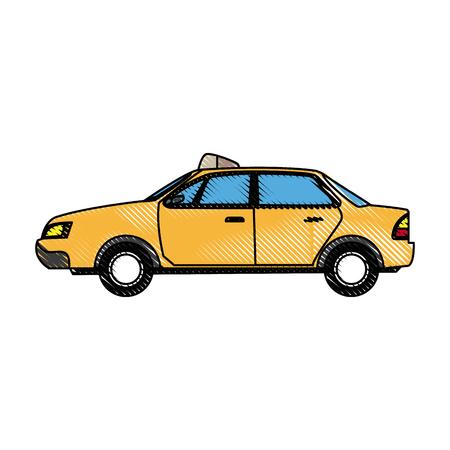 commercial transport taxi cab modern public service vector illustration