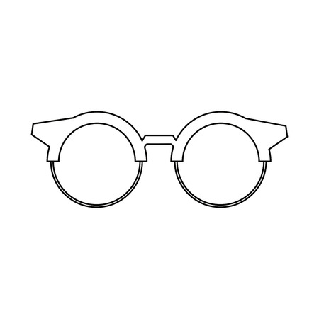 eyepiece: round glasses or reading eyeglasses classic style vector illustration