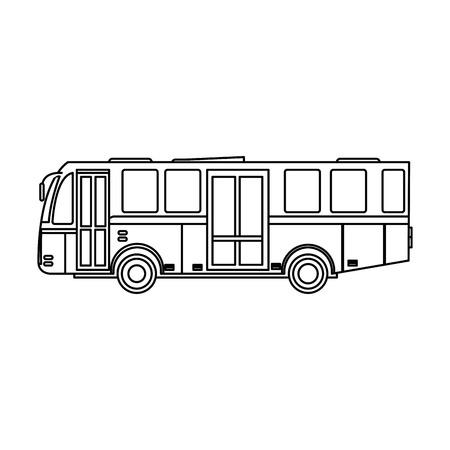 modern public transport bus city transit shorter distance vector illustration Ilustração