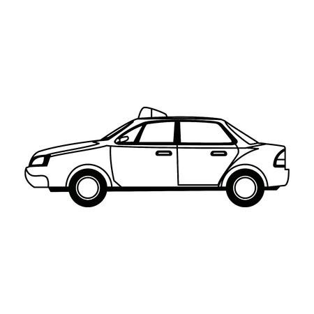 police car radio mobile patrol with rooftop flashing lights a siren vector illustration Illustration
