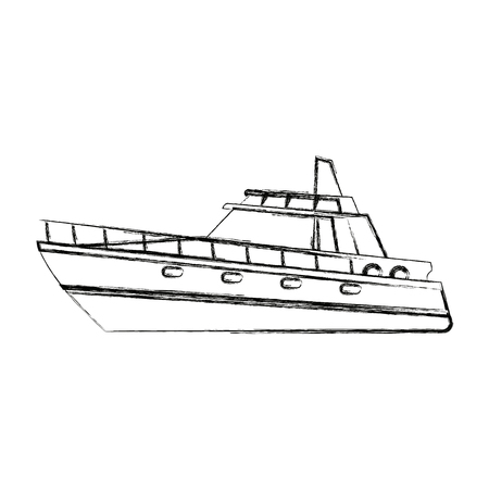 boat tourist yacht to travel by sea transport vector illustration Reklamní fotografie - 82186648