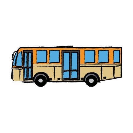 modern public transport bus city transit shorter distance vector illustration Ilustrace