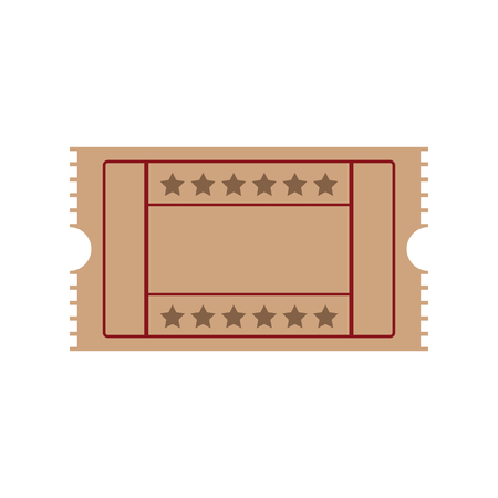 cinema ticket movie entertainment show vector illustration