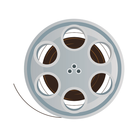 film stripe reel on movie cinema negative vector illustration Illustration