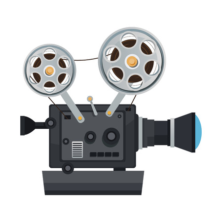 high detailed vintage film projector cinema icon vector illustration