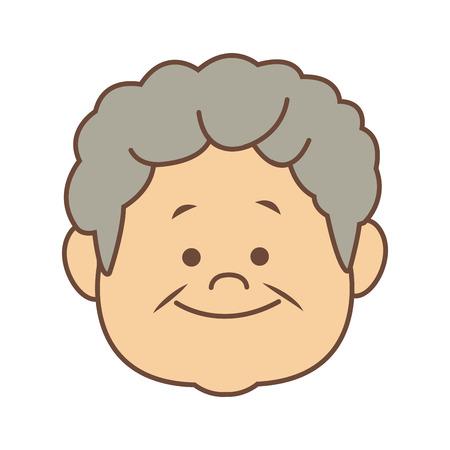 portrait happy grandfather man family person vector illustration Çizim