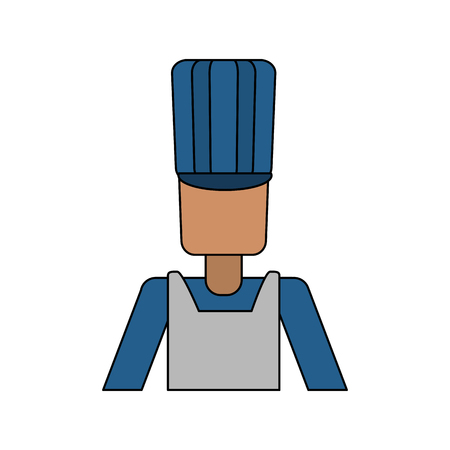 Male chef avatar over white background vector illustration