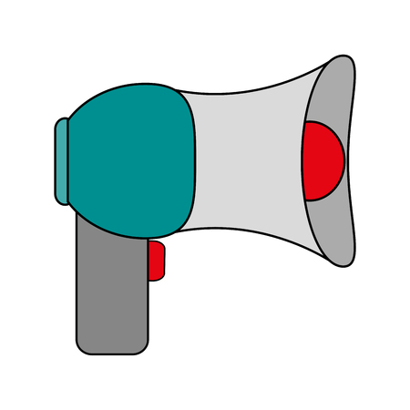loud speaker: colorful megaphone over white background vector illustration Illustration