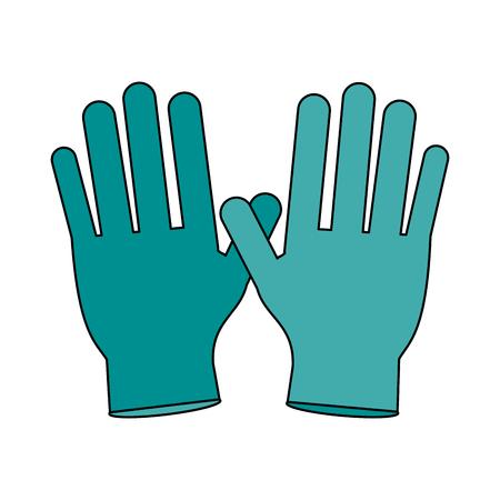 surgical glove: medical gloves over white background vector illustration Illustration