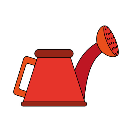 Colorful watering can over white background vector illustration Çizim